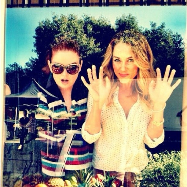 Lauren Conrad went window shopping with a friend. Source: Instagram user kristin_ess