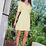 Selena's Staud Frites Dress in Yellow