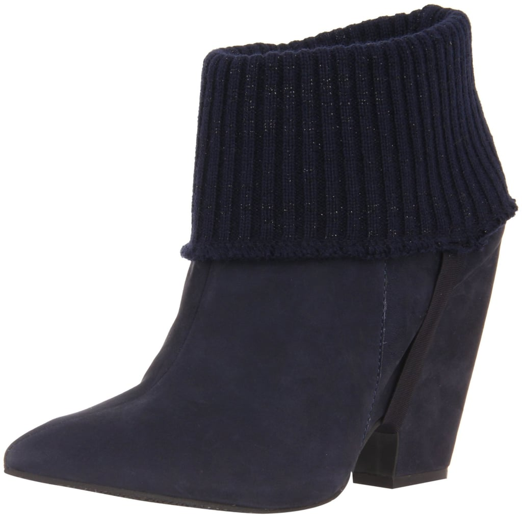 This smart Madison Harding Barbara Ankle Boot ($273) comes with a detachable ribbed knit lining. How smart is that?