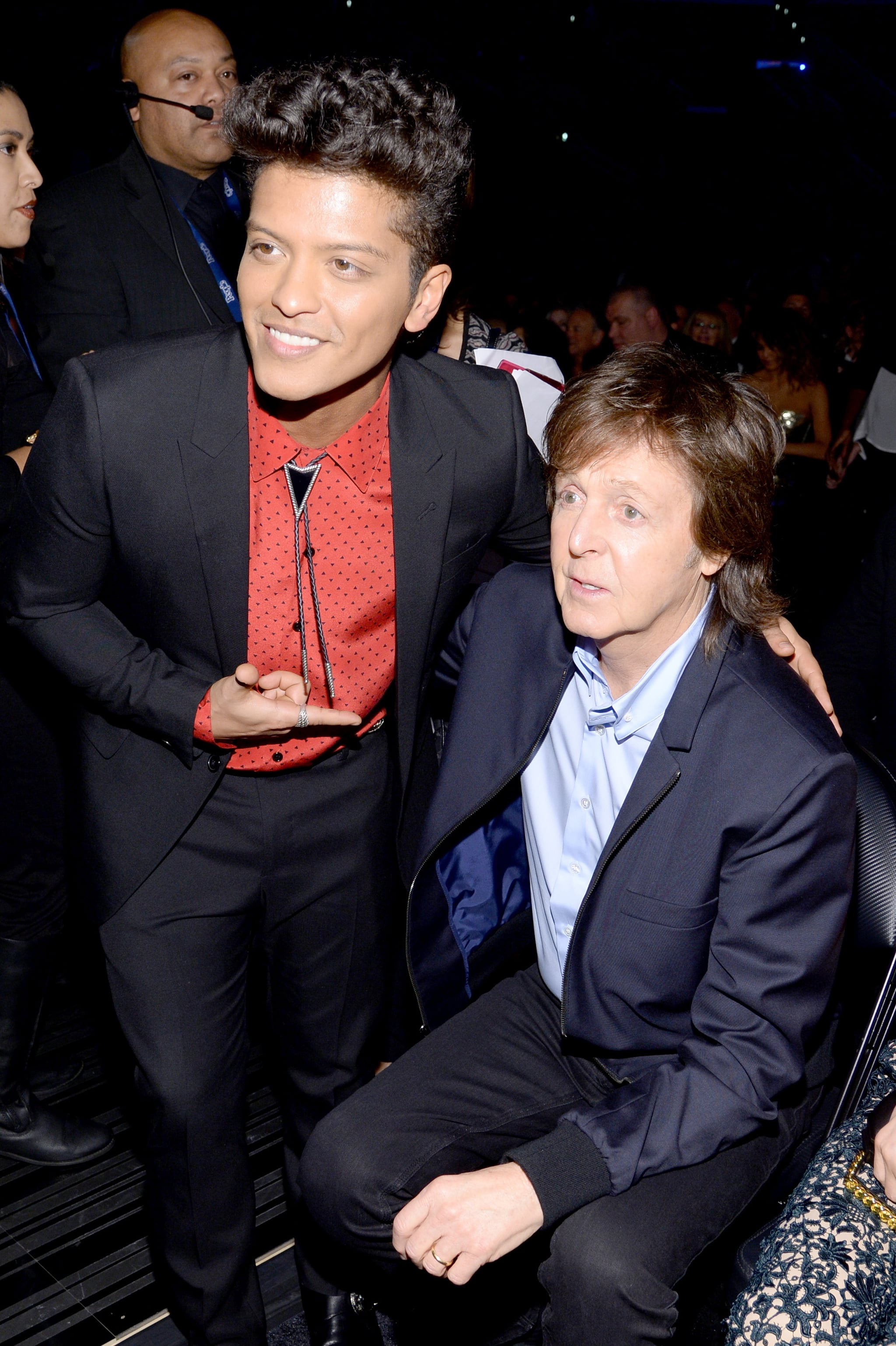 Bruno Mars took a picture with Paul McCartney.