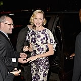 Naomi Watts happily signed autographs.