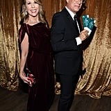 Rita Wilson and Tom Hanks at the 2020 SAG Awards