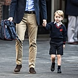 Prince George's First Day of School at Thomas's London Day School in September 2017