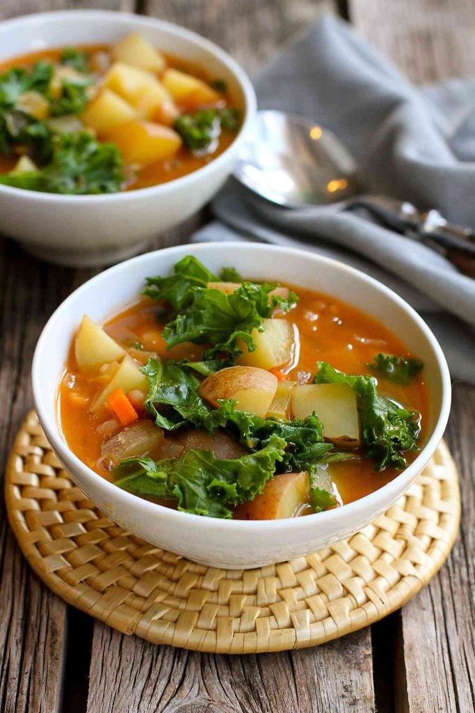 Potato Soup With Beans and Kale