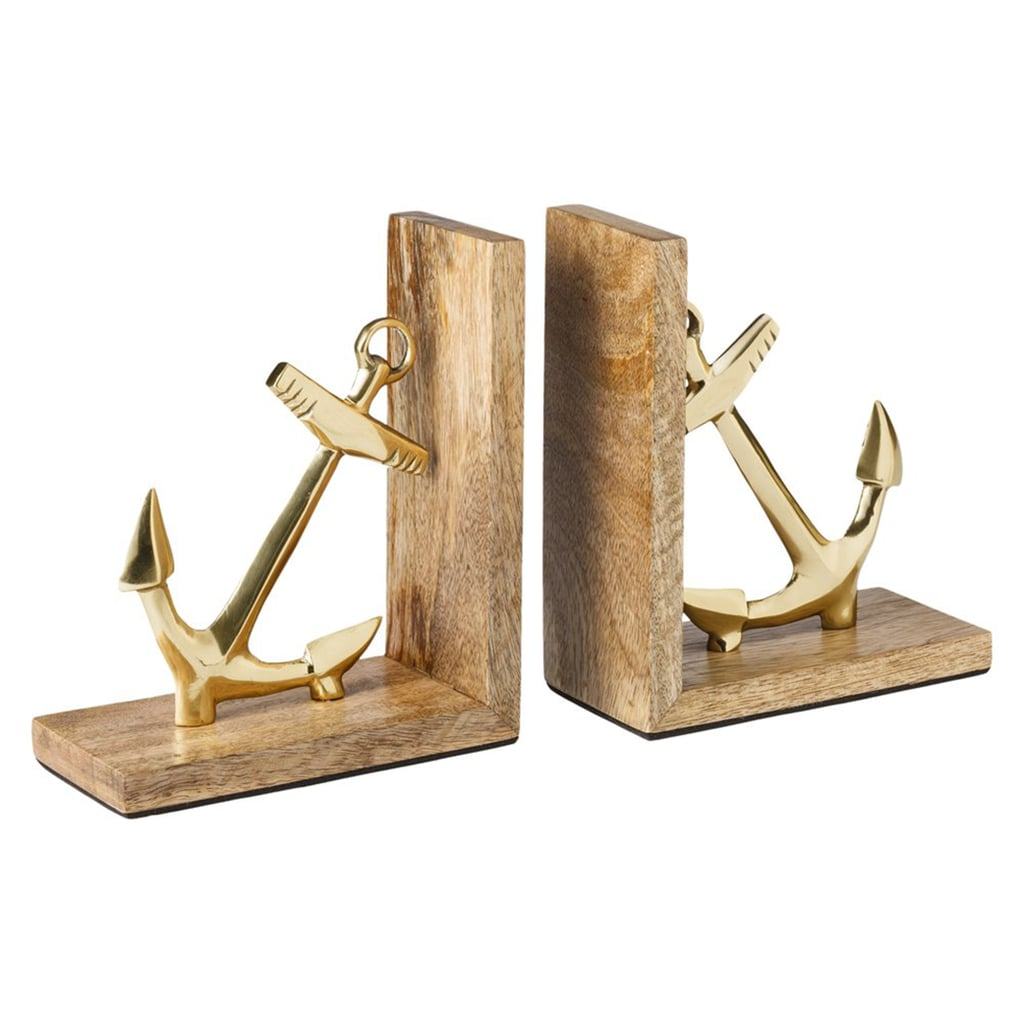 Embrace the nautical trend by working these anchor bookends ($25) onto a shelf or mantel.