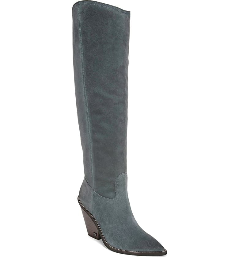 Sam Edelman Indigo Pointed-Toe Knee-High Boots