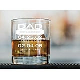 Dad-Themed Whiskey Glass