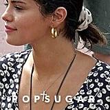 Selena Gomez Ganni Floral Wrap Dress 2018