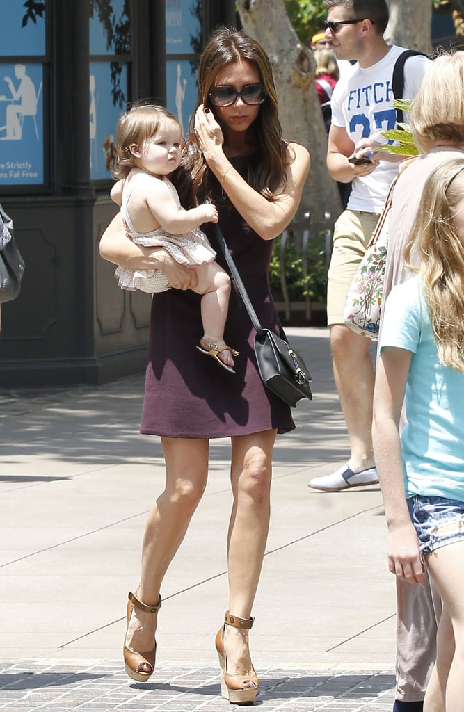 Harper Goes Along on a Beckham Family Shopping Trip With Posh
