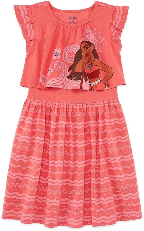 Disney Short Sleeve Moana A-Line Dress