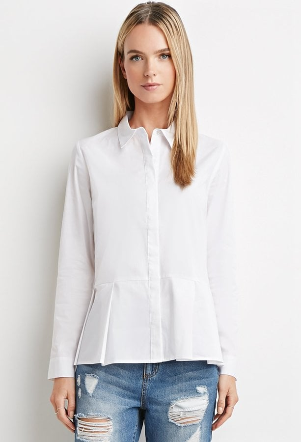 A White Button-Down With a Fashion-Forward Twist