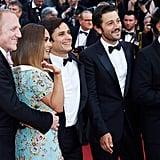 Pictured: Francois-Henri Pinault, Salma Hayek, Gael García Bernal, Diego Luna, and Alejandro González Iñarritu.