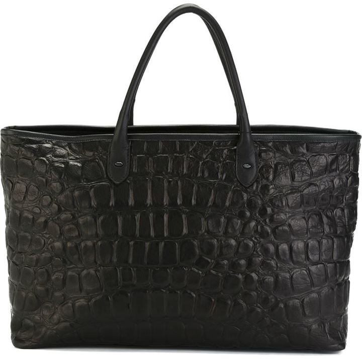 Tom Rebl Crocodile Texture Tote Bag ($639)