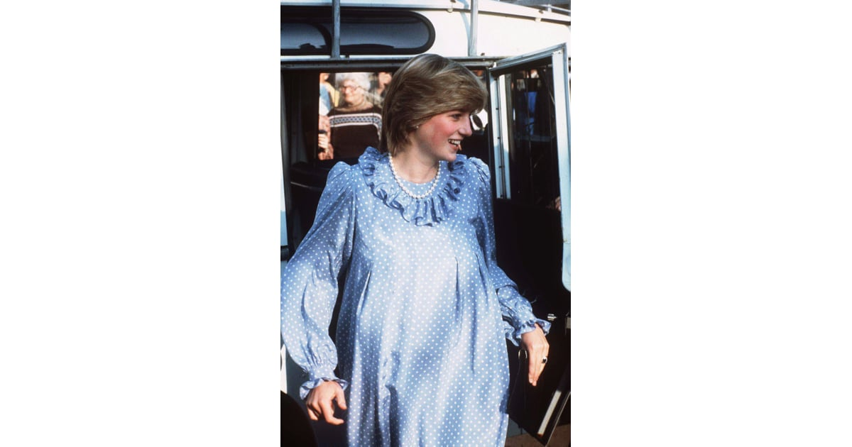 A take on Italian style  Princess Diana stepped out in a long-sleeved    Photos of Princess Diana Pregnant   POPSUGAR Family Photo 8 fee1d51bf0