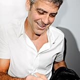 Clooney Gets Mobbed