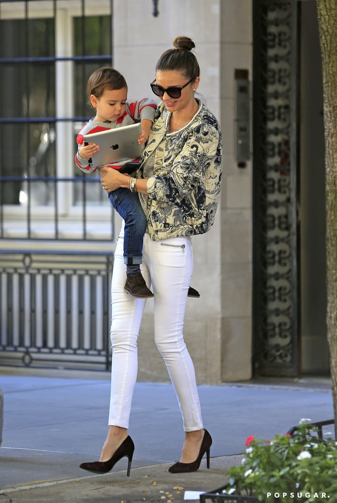 Miranda Kerr Spends the Morning With Her Tiny Techie, Flynn Bloom
