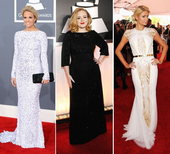 Pictures of Celebrities on the Red Carpet at the 2012 Grammys Kelly Osbourne, Paris Hilton & More!