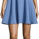Nanette Lepore Short-Sleeve Textured Fit & Flare Dress ($378)