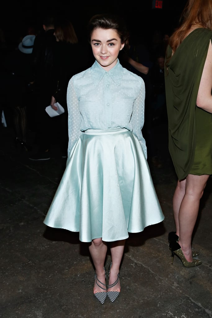 A Christian Siriano outfit (and a serious power brow) secured Maisie a front-row seat at New York Fashion Week.
