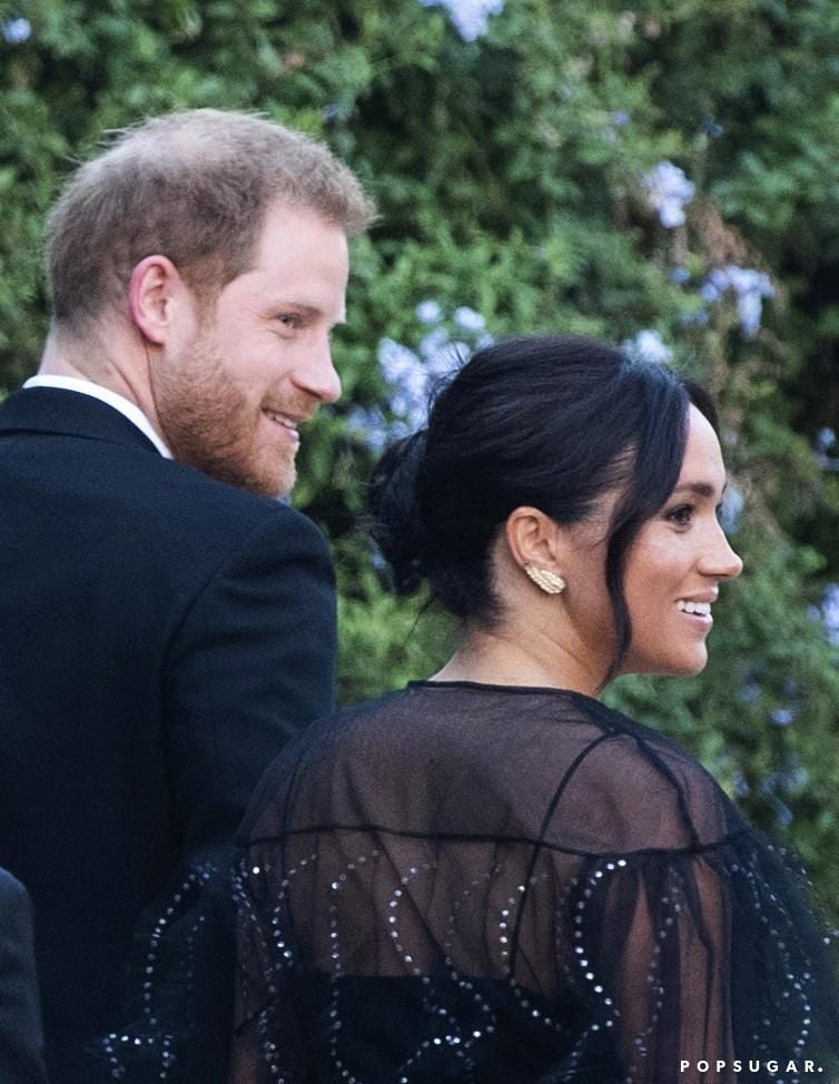 Prince Harry and Meghan Markle were sights to behold as they attended fashion designer Misha Nonoo and entrepreneur Michael Hess's wedding on Friday. The 35-year-old duke and 38-year-old duchess were at the ceremony in Rome in support of Misha, who has been friends with Meghan for years. At the event, Meghan modeled a sheer black dress with crystal details while Harry looked dapper in a full suit. The couple beamed as they walked into the Cinecittà Studios venue, hand in hand. Other celebrity guests included Katy Perry and Orlando Bloom, as well as Harry's cousins, Princess Beatrice and Princess Eugenie.  Misha's history with the royal couple runs deep as she reportedly helped Harry and Meghan meet and even attended their wedding in 2018. She was also previously married to Alexander Gilkes — one of Harry's closest friends — from 2012 to 2016. Recently, she designed clothing for Meghan's Smart Works charity collection. The celebrity world is a small one indeed! Look ahead to see more pictures of Harry and Meghan at Misha's big day.      Related:                                                                                                           100+ Times Harry and Meghan Showed Us That They're the Perfect Royal Match
