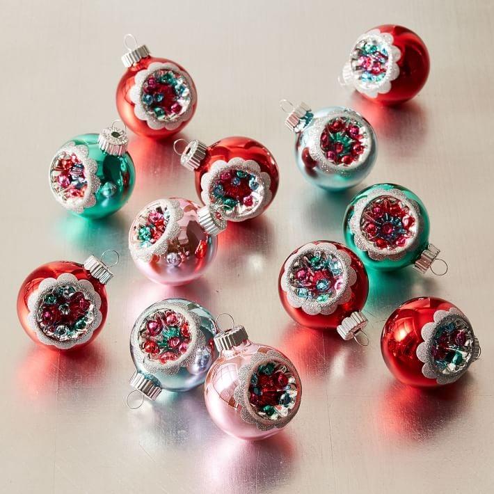 Multicolored Medallion Ornaments