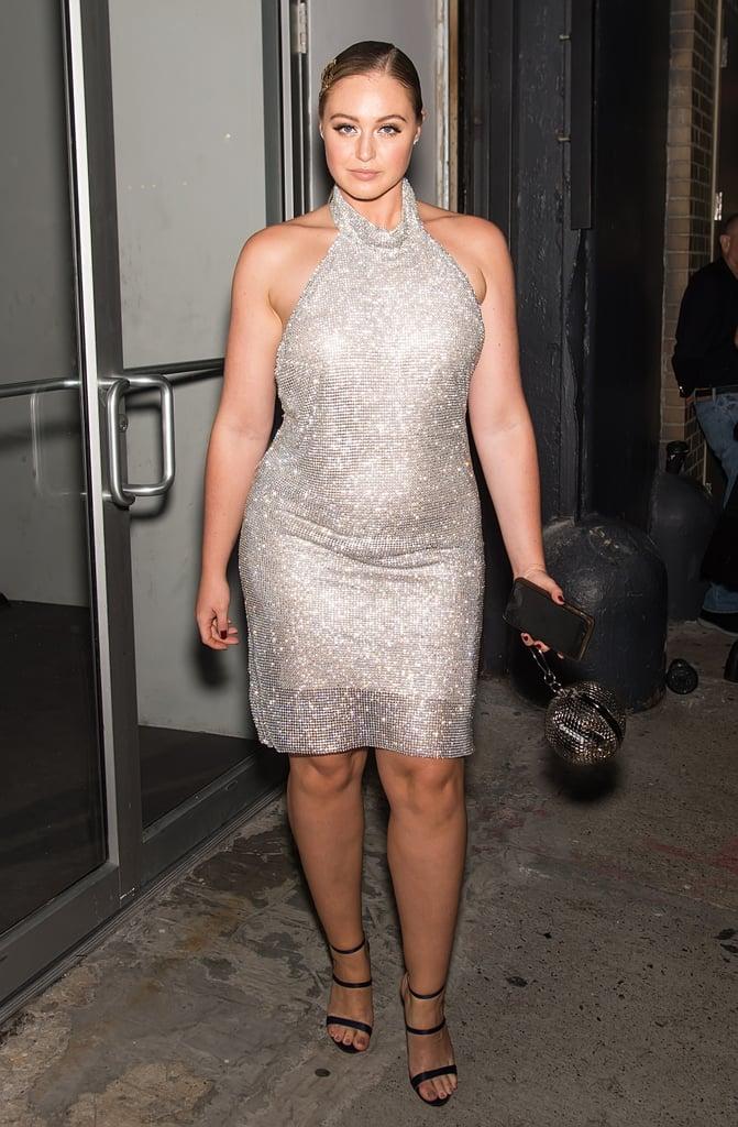 Shimmering in a Jovani Dress and Sophia Webster Heels ...