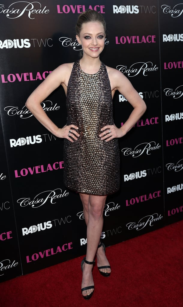 We still can't get over how gorgeous Amanda Seyfried looked in Gucci for Lovelace.