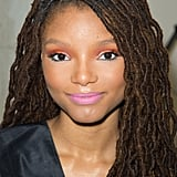 Halle Bailey in Colourful Makeup