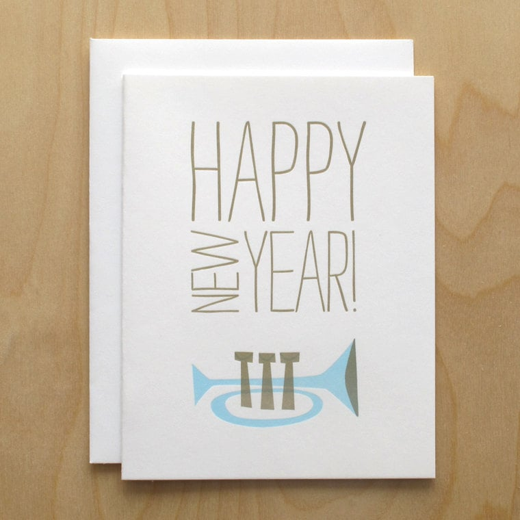 happy new year letterpress holiday card 5