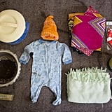 Agnes's bag included clothes for the baby, socks, a blanket, sarongs, laundry soap, a basin, flask, and tea.