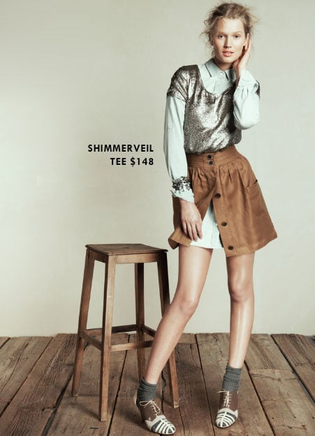 Invest: Shimmerveil Tee ($148)  Why: We've been in the market long enough to know that cheap-sequined things end up looking just that — cheap. When you find a great-fitting, well-made sequined top that hits a festive note without being cheesy or overdone, you snatch it up when you can.