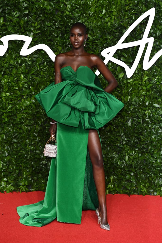 Adut Akech at the British Fashion Awards 2019 in London