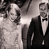 Pictured: Emma Stone and Ryan Gosling