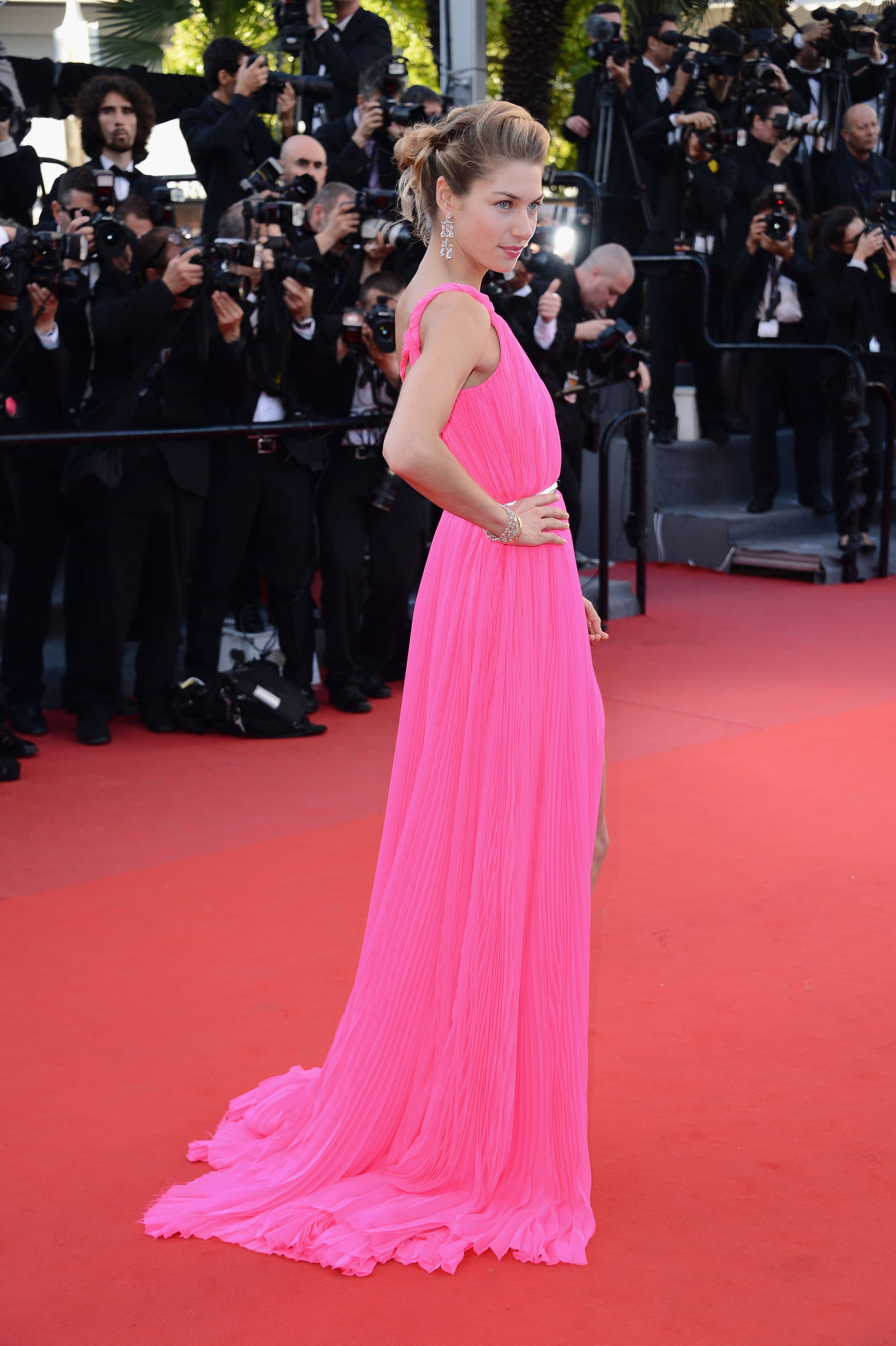 Jessica Hart at the Cannes premiere of Behind the Candelabra.