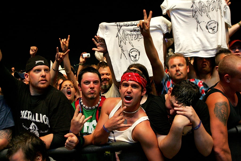Bonnaroo bros at Metallica in 2008.