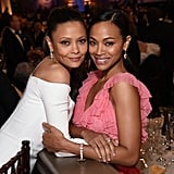 Thandie Newton and Zoe Saldana shared a sweet embrace in 2017.