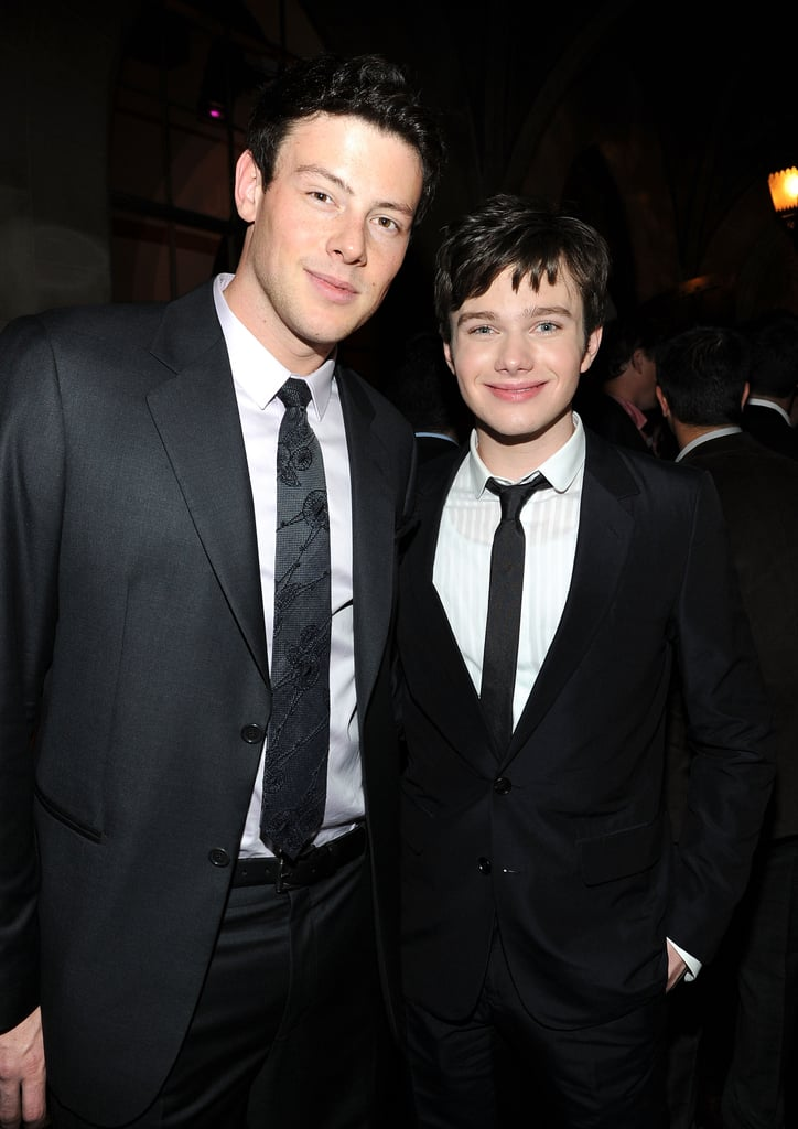 Cory Monteith posed with his costar Chris Colfer at the GQ Men of the Year party in LA back in November 2010.