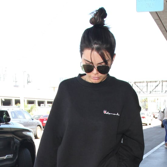 Kendall Jenner Wearing Track Pants