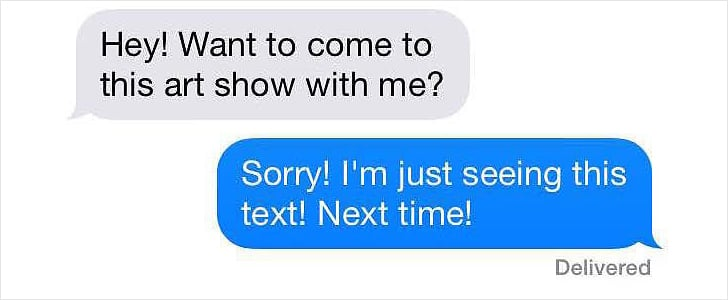 Texts to Cancel Plans