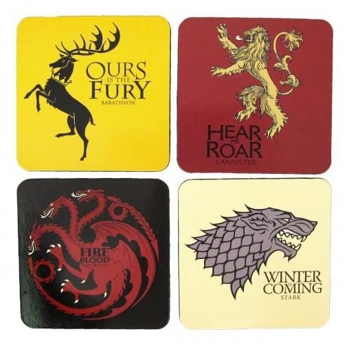 Game of Thrones House Sigil Coaster Set ($13)