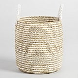 Small Striped Seagrass Bianca Tote Basket