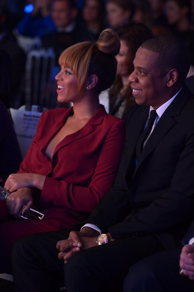 Beyonce and Jay Z smiled at the Sports Illustrated Sportsman Of The Year Awards in NYC.