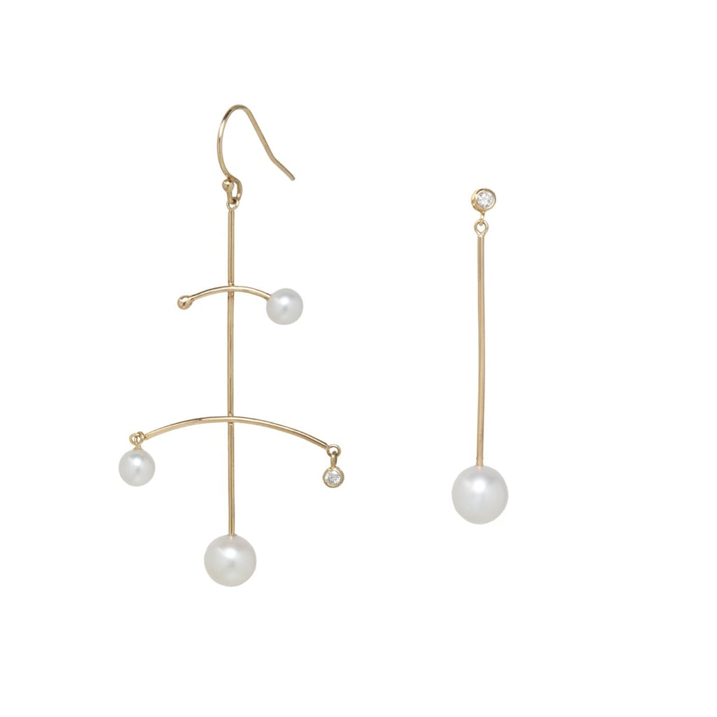 Zoë Chicco 14K Mixed Pearl and Diamond Mobile Earrings