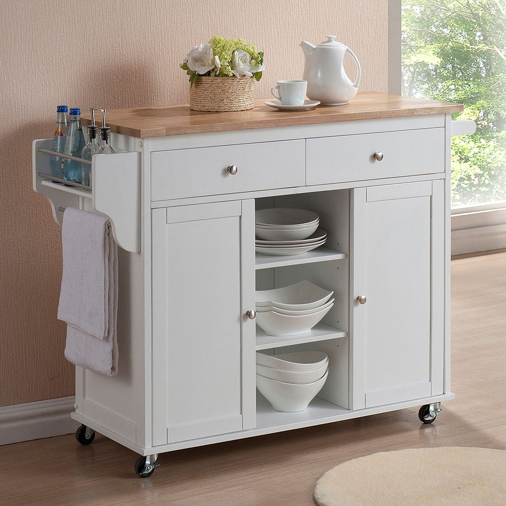 White Kitchen Island Cart | 14 Kitchen Islands That Will ...