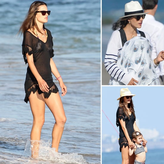 Alessandra Ambrosio Pictures at the Beach With Son Noah