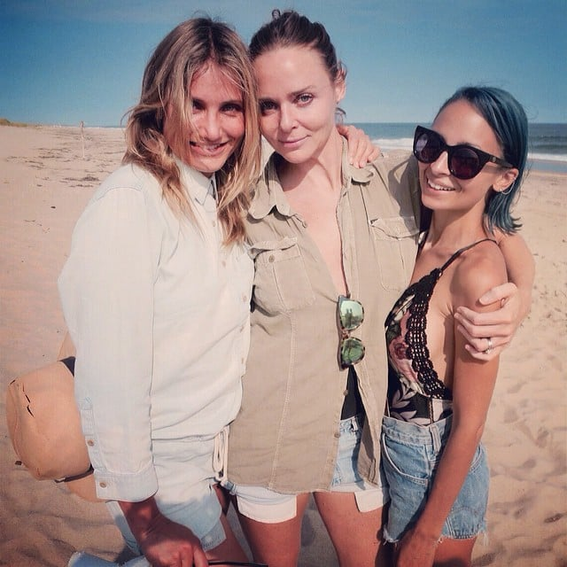 """""""I want to be a Charlie's angel!"""" Stella McCartney wrote in the caption for this beach snap with Cameron and Nicole Richie, which she shared on Instagram earlier in Cameron's birthday week."""
