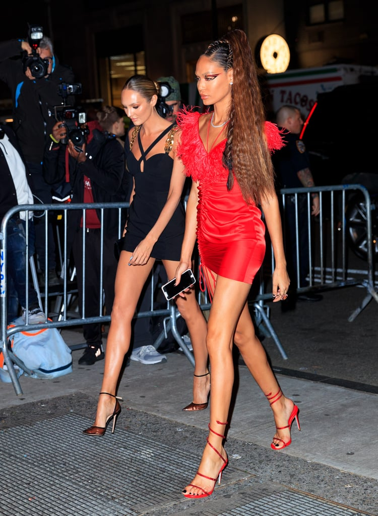 Candice Swanepoel and Joan Smalls at the Met Gala Afterparty