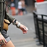 Wear your watches loosely, with plenty more jewelry.