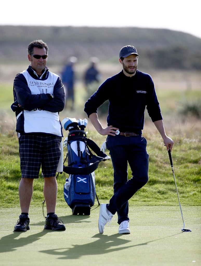 Jamie Dornan looked more like he was modeling than golfing while playing in Scotland in October 2014.