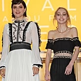 Lily-Rose Depp and Vanessa Paradis Cannes Film Festival 2016